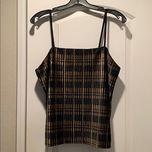Madewell Tops - Madewell Pleated Velvet Cami Top in Plaid